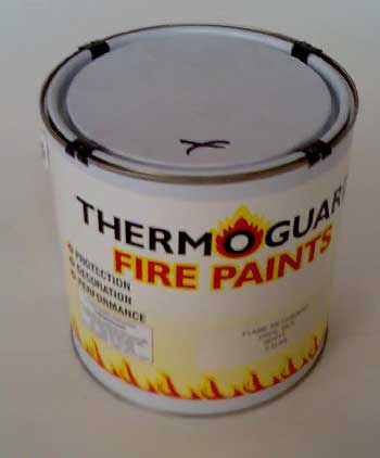 Wall and ceiling fire paint